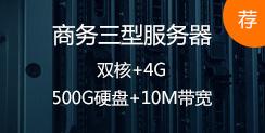 商务三型服务器,双核+4G,500G硬盘+10M带宽 推荐